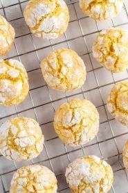 Lemon crinkle cookie recipe